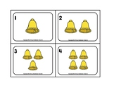 Christmas Bells 0-10 Counting Picture Word Flash Cards