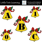 Christmas Bells Alphabet and Numbers Clip Art - Commercial Use