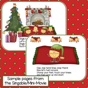 Christmas Movement Song! Jingle Bell Bop! Singable & Activities