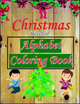 Alphabet Specialty: Christmas 'Beveled' Alphabet Coloring Book A-Z Alpha Pack
