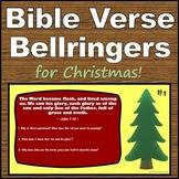 Christmas Bible Verses with Bellringers - Printable & Digital