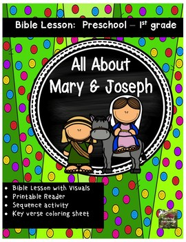 Christmas Bible Lesson Mary And Joseph All About Series Preschool Kinder