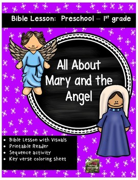 Christmas Bible Lesson Mary And The Angel All About Series Preschool Kinder