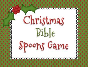Christmas Bible Spoons Game