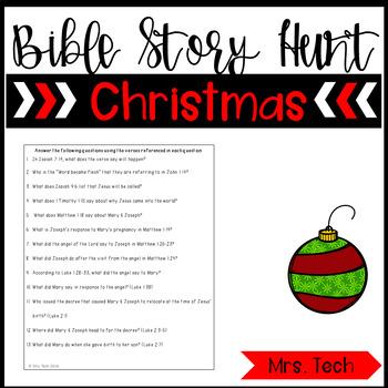 Christmas Bible Story Hunt