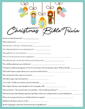 Christmas Bible Trivia.Christmas Bible Trivia Game Download