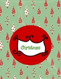 Christmas Binder Cover/Insert
