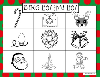 Christmas Bing HO! HO! HO!  Fun! for kindergarten to grade 2