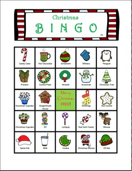 Christmas Bingo! (36 BINGO BOARDS)