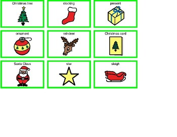 Christmas Bingo! Single Board [speech therapy and autism]