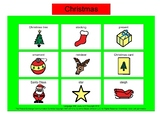 Christmas Bingo! Single Board [speech therapy and autism]