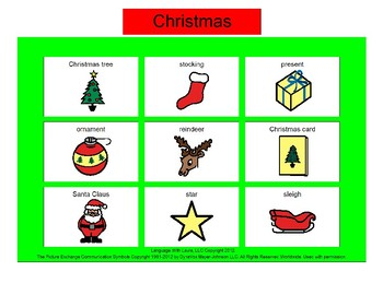 Christmas Bingo! [speech therapy and autism]