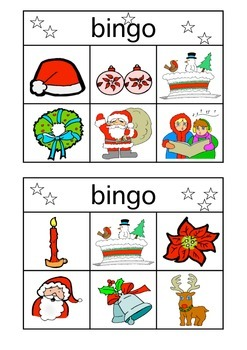 Christmas Bingo Picture Cards