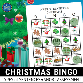 Christmas Types of Sentences Bingo