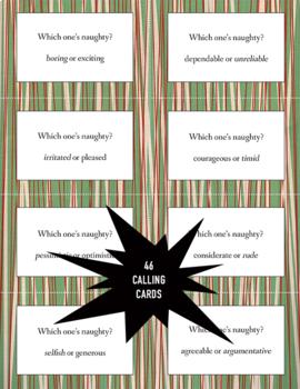 Christmas Character Traits Bingo