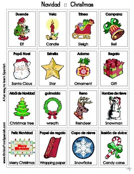 Christmas Bingo Bilingue - Navidad Bingo