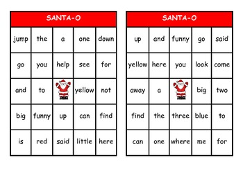Christmas Bingo Bundle:  Dolch Pre-Primer - Grade Three High Frequency Words