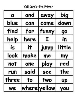 Christmas Bingo Bundle:  Dolch Pre-Primer - Grade Three High Frequency Words
