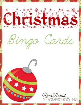 Christmas Bingo Cards Teaching Resources Teachers Pay Teachers