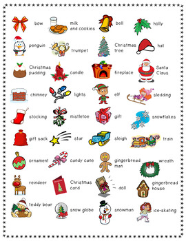 Christmas Bingo Cards and Flashcards