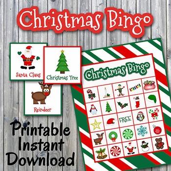 Christmas Bingo.Christmas Bingo Cards And Memory Game Half Page Printable Up To 30 Players
