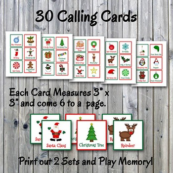 photograph regarding Christmas Bingo Card Printable named Xmas Bingo Playing cards and Memory Activity - 50 percent Website page - Printable - Up toward 30 gamers