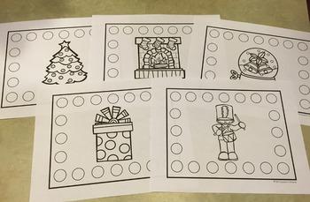 Christmas Bingo Chip Mats