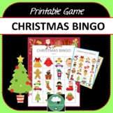 Christmas Bingo - Cute Christmas Themed Bingo Game for Preschool & K-2 kids