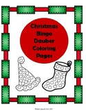 Christmas Bingo Dauber Coloring Pages