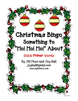 Christmas Bingo:  Dolch Primer High Frequency Words