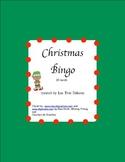 Christmas Bingo- English