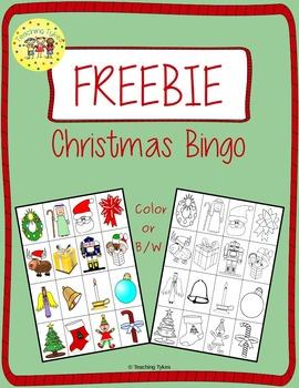 Christmas Bingo FREEBIE