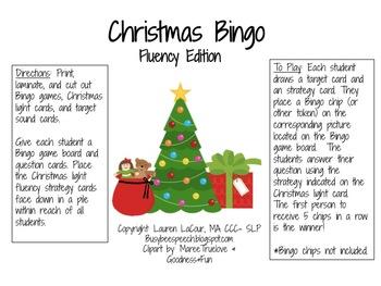 Christmas Bingo Fluency