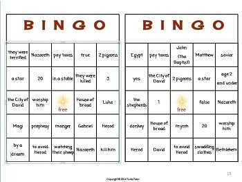 Christmas Bingo: Christian Version
