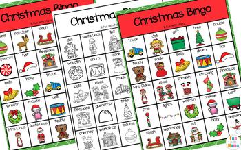 Christmas Bingo Game For Classrooms