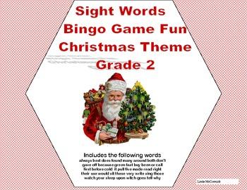 Christmas Bingo Game Fun- Sight Words for Grade 2