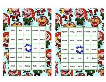 Christmas Bingo Game Fun- Sight Words for Grade 3