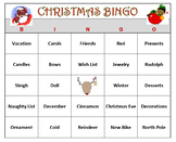 Christmas Bingo Game- Holiday Fun! 60 Bingo Cards Printable.