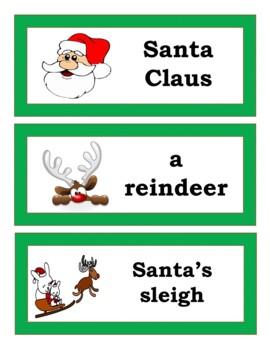 Christmas Bingo Game, Word Wall, and PowerPoint Presentation