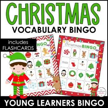Christmas Bingo Game and flashcard set