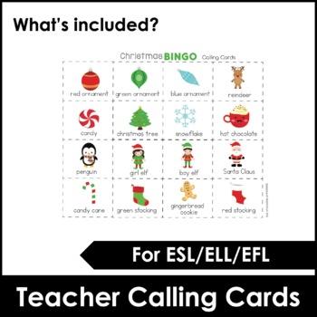 Christmas Bingo Game and flashcard set