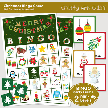 Christmas Bingo & Memory Game, Christmas Printable Game