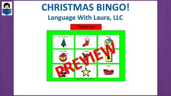 Christmas Bingo! Multiple Boards [speech therapy and autism]