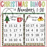 Christmas Bingo Numbers 1-20