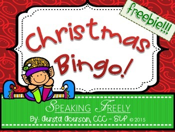 Christmas Bingo Open-Ended Game!