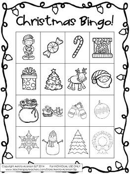 Christmas Bingo Open-Ended Game!