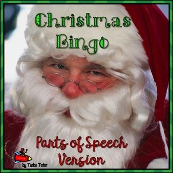 Christmas Bingo: Parts of Speech