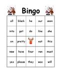 Christmas Bingo Primer Words Kindergarten