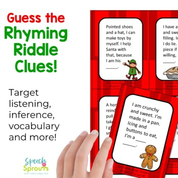 Christmas Bingo Riddles Game