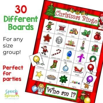 Christmas Bingo Riddles Game